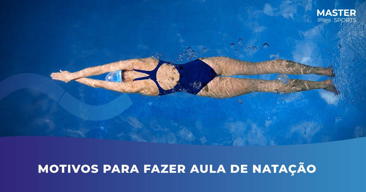 Motivos para fazer aulas de natação na Master Sports
